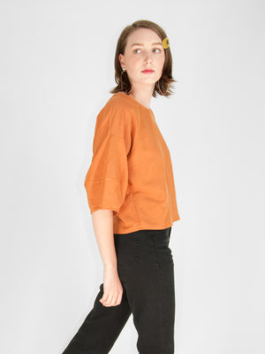 Eve Gravel - Pomelo Top / Terracotta