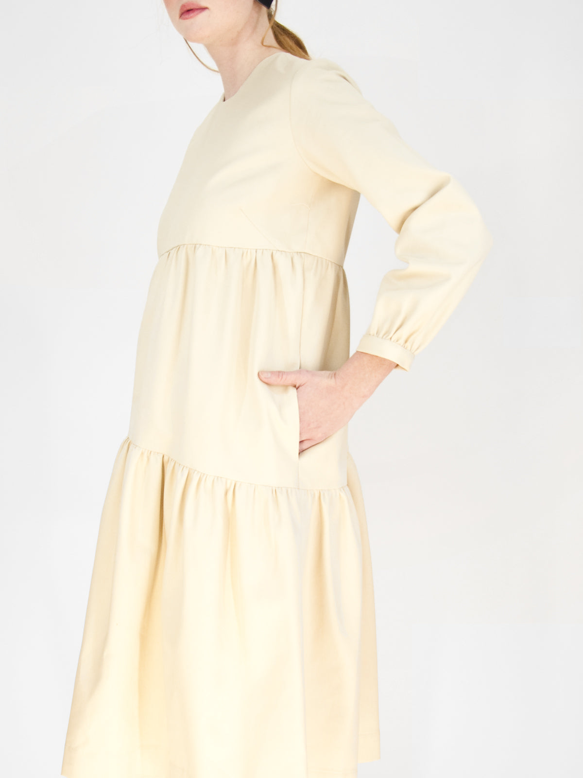 Beth - Poppy Dress / Natural Twill
