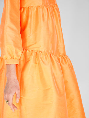 Beth - Poppy Dress / Sherbet Dupioni