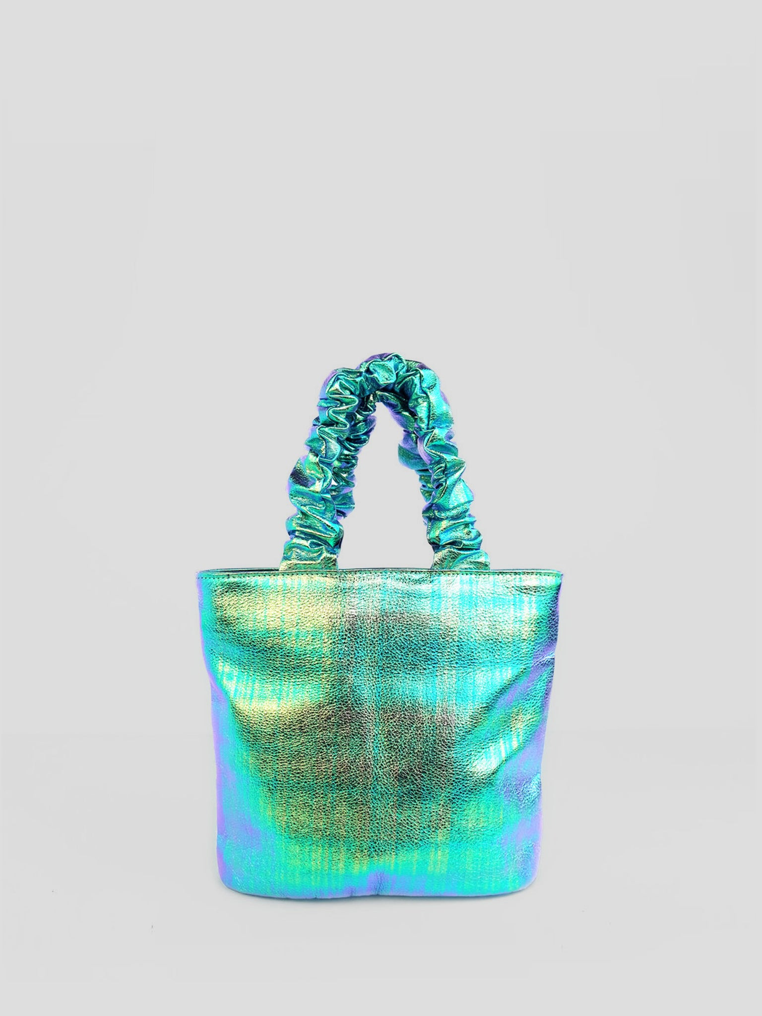 Primecut - Scrunchie Bag / Iridescent Leather