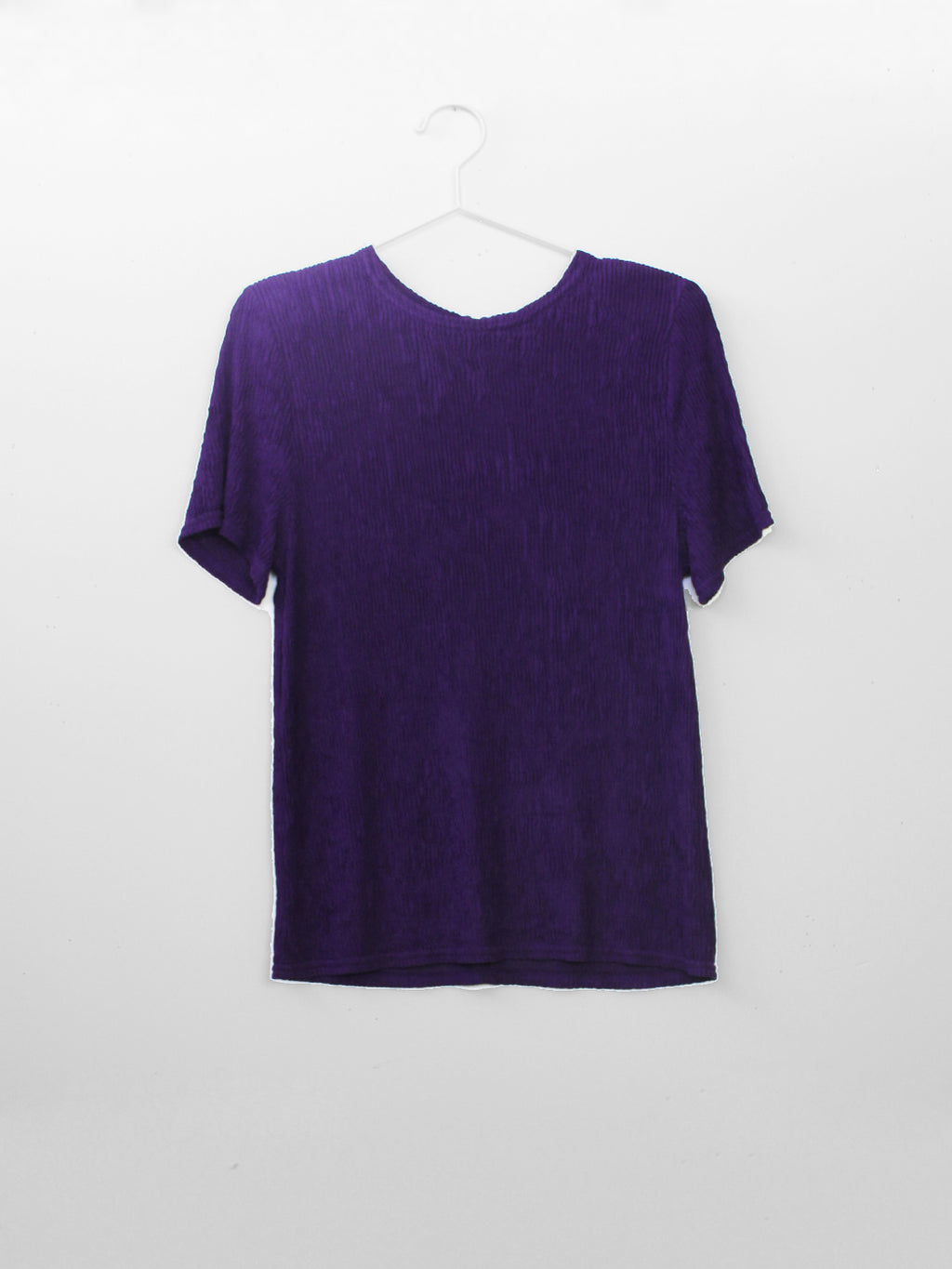 short sleeve purple crinkle tee