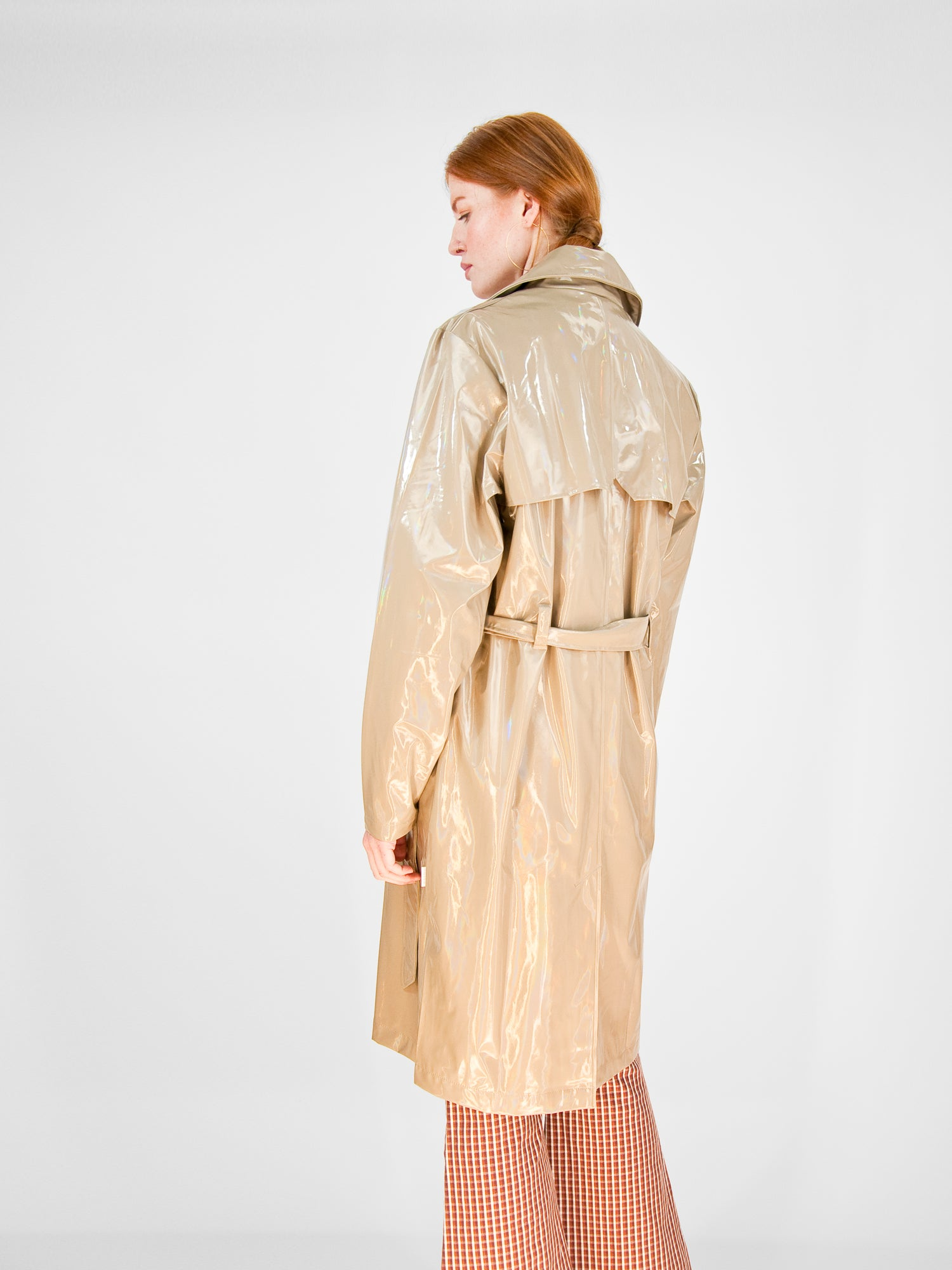 Rains - Holographic Overcoat / Beige