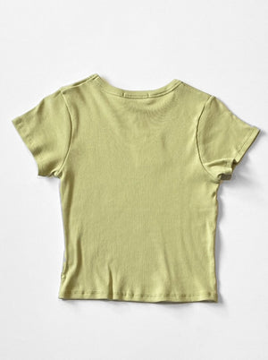 Lisa Says Gah - Ribbed T-Shirt / Sage