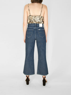 Lee - Cropped Wide Leg Jean / Railroad