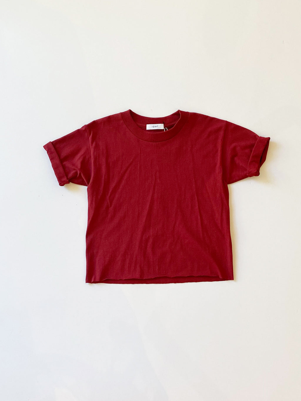 IGWT - Cropped Crew Tee / Ruby