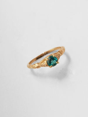 Saloni Ring / London Blue Topaz / 14Kt Yellow Gold