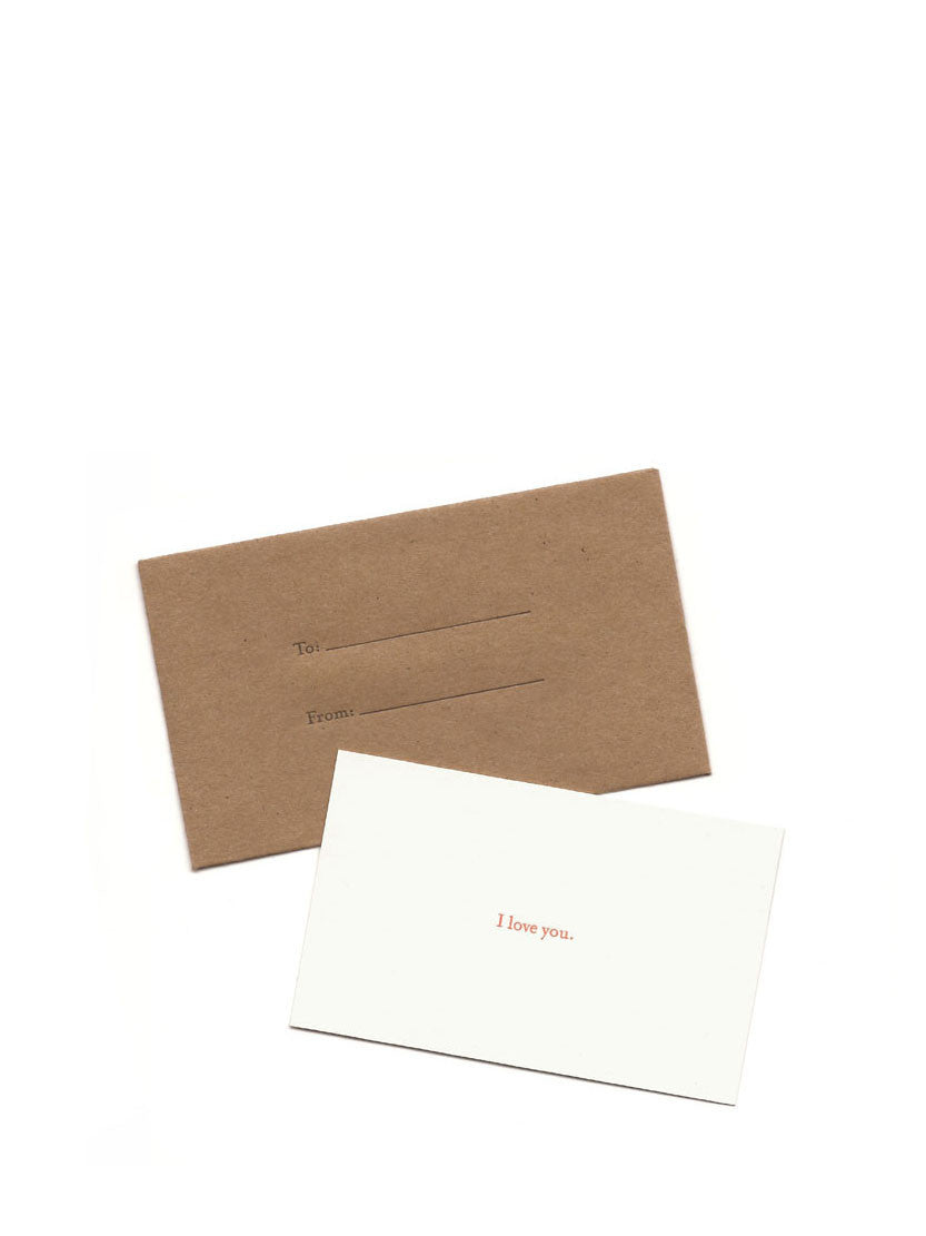 Set Editions - I Love You Card