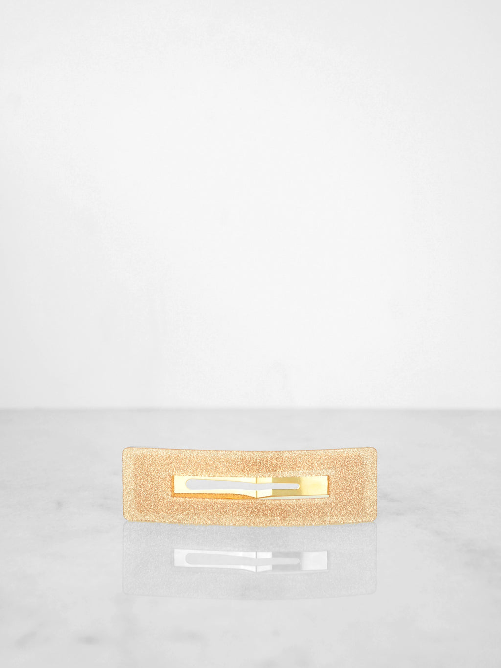 Shimmer Clip / Champagne Rectangle