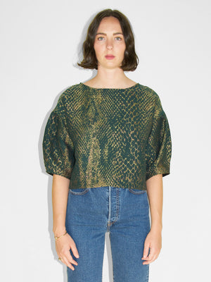 Eve Gravel - Slice Me Nice Top / Snake