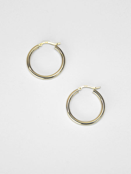 Slim Tube Hoops / Gold