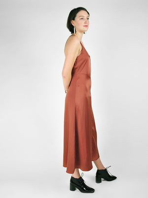Satin Slip Dress / Copper