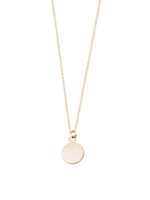 Mini Circle Pendant Necklace / Gold