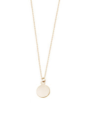 Custom Mini Circle Pendant Necklace / Gold