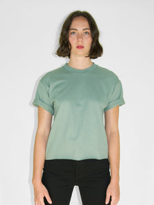 Cropped Crew Tee / Spruce