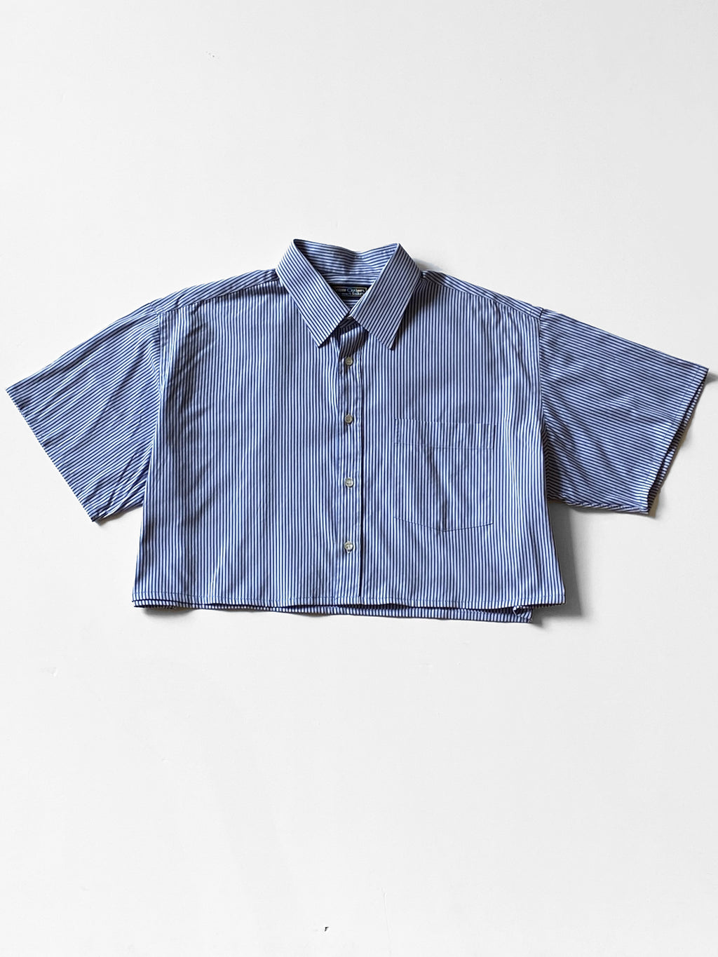 UP by Beth - Reworked Button-Down Shirt  / Cobalt Stripe