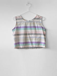 IGWT Vintage - Striped Crop Tank / Pastel