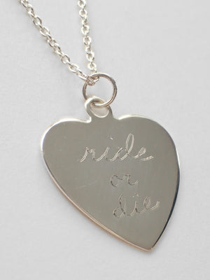 Ride Or Die Sweet Nothing / Sterling Silver