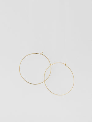 Threader Hoops / 40mm / Gold