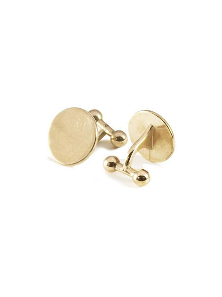 Barbell Cufflinks / Bronze