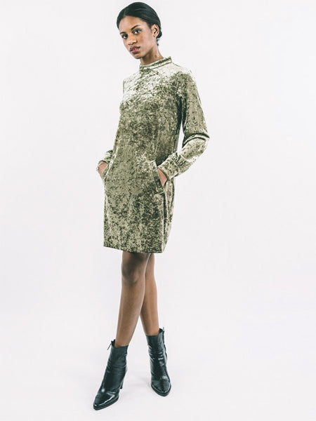 Valerie Dress / Green Velvet