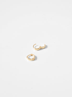 Xanthi Clicker Hoops / 9mm / 14k Yellow Gold