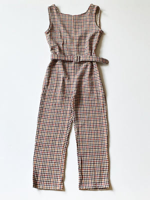 Rita Row - Zia Jumpsuit / Maroon Checkered