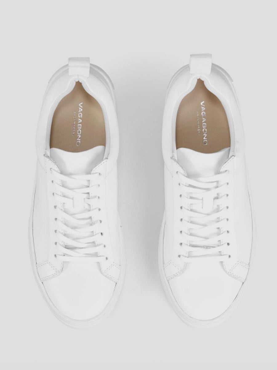 Vagabond - Zoe Platform Sneaker / White Leather