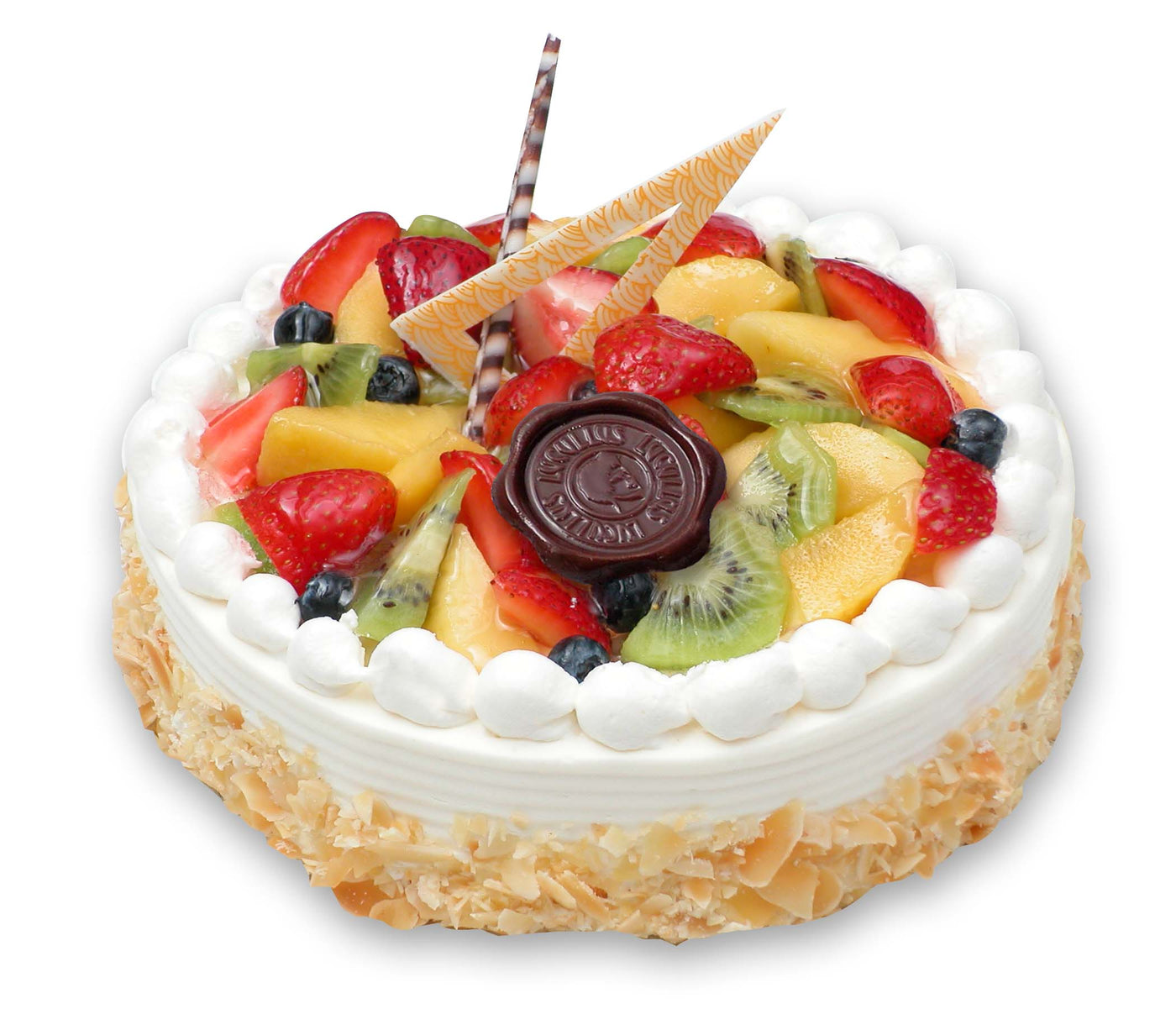 Excellent Fresh Fruit Cake 1 2 Kg Funny Birthday Cards Online Overcheapnameinfo