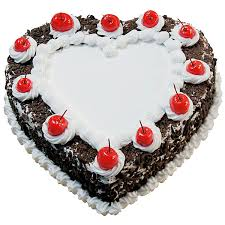 Heart Shaped Blackforest Cake