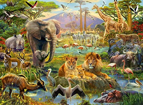Ravensburger 200 PCS  Animals of the savanna