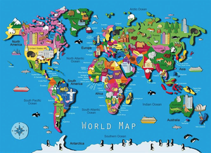 Ravensburger 60PCS World Map