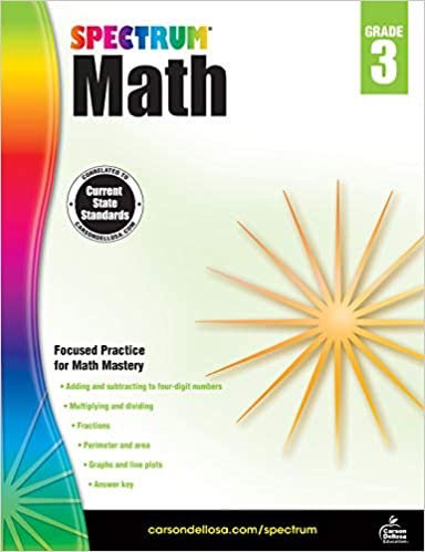 SPECTRUM Math Workbook Grade 3