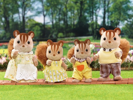 Calico Critters Chipmunk Family