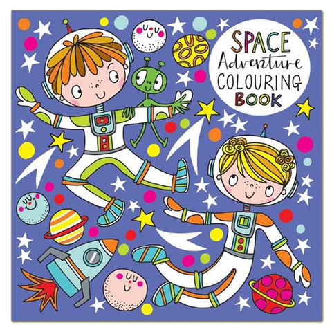 Square Coloring Book - Spaceman - 8x8