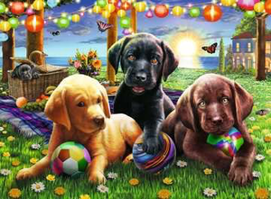 Ravensburger 100PCS Puppy Picnic