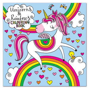 Square Coloring Book - Unicorn - 8x8
