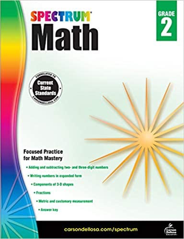 SPECTRUM Math Workbook Grade 2