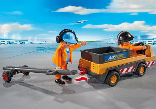 Aircraft Tug with Ground Crew