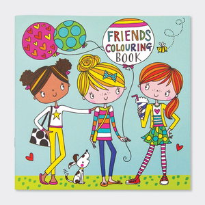 Square Coloring Book - Friends - 8x8