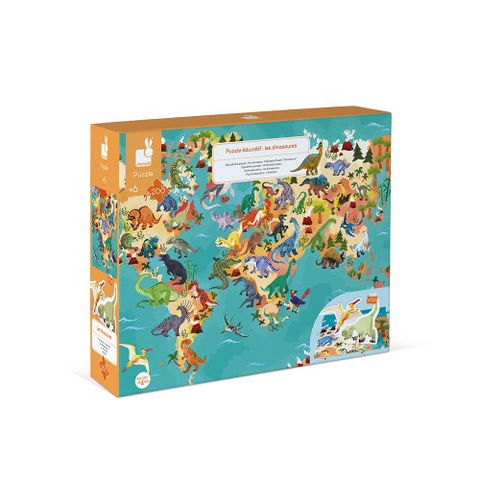 200 pc 3D Educational Puzzle The Dinosaurs