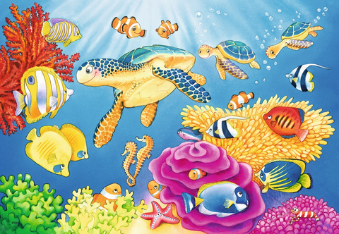 Ravensburger 2X24 Vibrance Under the Sea