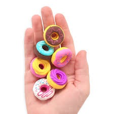 DAINTY DONUTS SCENTED ERASERS - SET OF 6