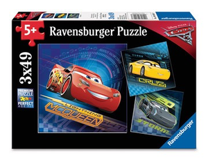 Cars 3 (3 x 49 pc Puzzles)