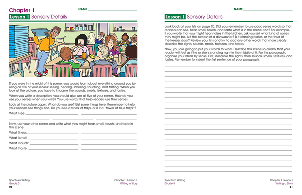 SPECTRUM Writing Workbook Grade 5