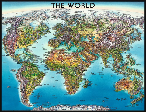 Ravensburger 2000PCS World Map