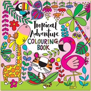 Square Coloring Book -Tropical Adventure - 8x8