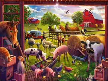 Ravensburger Floor Puzzle Animals of Bells Farm