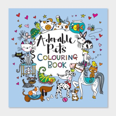 Square Coloring Book - Adorable Pets - 8x8
