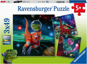 Dinosaurs in Space (3 x 49 pc Puzzles)