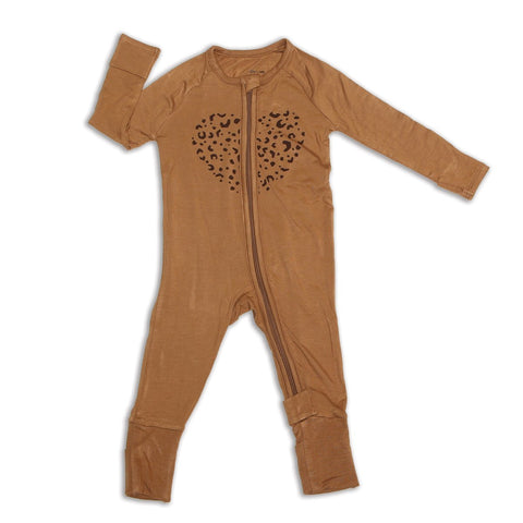 Bamboo Zip-up Footed Romper